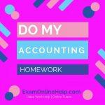 Do My Accounting Homework