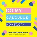 Do My Calculus Homework