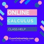 Online Calculus Class Help