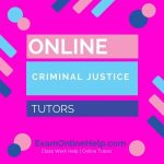 Online Criminal Justice Tutors