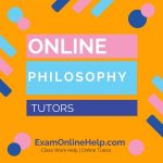 Online Philosophy Tutors