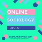 Online Sociology Tutors