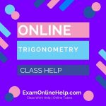 Online Trigonometry Class Help