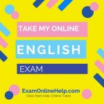 Take My Online English Exam