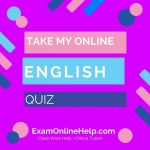 Take My Online English Quiz