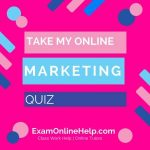 Take My Online Marketing Quiz