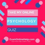 Take My Online Psychology Quiz