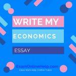 Write My Economics Essay
