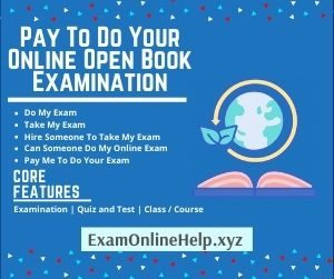 Pay To Do Your Online Open Book Examination