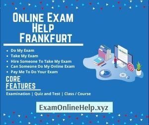 Online Exam Help Frankfurt