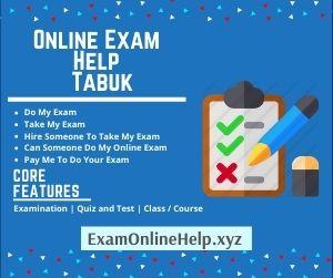 Online Exam Help Tabuk